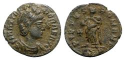 Ancient Coins - Theodora (died before AD 337). Æ - Treveri - R/ Pietas