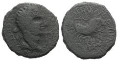 Ancient Coins - Augustus (27 BC-AD 14). Spain, Caesaraugusta. Æ As. Mn. Kaninius Iter and L. Titius, duoviri.