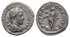 Ancient Coins - Elagabalus (218-222). AR Denarius - Rome - R/ Providentia