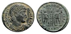 Ancient Coins - Constantine I (307/310-337). Æ Follis - Antioch - R/ Soldiers