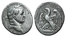 "Ancient Coins - Seleucis and Pieria. Antioch. Vespasian. AD 69-79. AR Tetradrachm. Dated ""New Holy Year"" 2 (AD 69/70)."