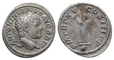 Ancient Coins - Caracalla (198-217). AR Denarius. Rome, AD 212.  R/ Serapis