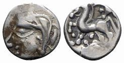 Ancient Coins - Celtic, Central Gaul. Bituriges, c. 100/80-60 BC. AR Unit
