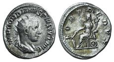 Ancient Coins - Gordian III (238-244). AR Antoninianus. Rome, 243-4. R/ FORTUNA