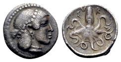 Ancient Coins - Sicily, Syracuse, c. 485-466 BC. AR Litra