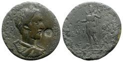 Ancient Coins - Maximinus I (235-238). Lydia, Saitta(?). Æ - R/ Mên