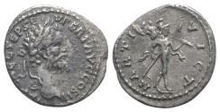 Ancient Coins - Septimius Severus (193-211). AR Denarius. Emesa, 194-5.  R/ Mars
