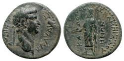 Ancient Coins - Claudius (41-54). Phrygia, Cadi. Æ - Meliton Asklepiadou