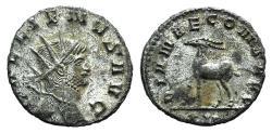Ancient Coins - Gallienus. AD 253-268. Antoninianus. Rome mint. 10th emission, AD 267-268. R / Stag