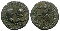 Ancient Coins - Gordian III with Tranquillina (238-244). Thrace, Anchialus. Æ - R/ Tyche