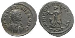 Ancient Coins - Carinus (Caesar, 282-283). Radiate. Ticinum, AD 282. R/ Carinus standing