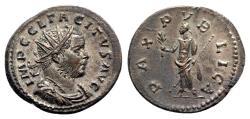 Ancient Coins - Tacitus (275-276). Radiate - Lugdunum - R/ Pax