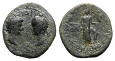 Ancient Coins - Augustus and Tiberius (27 BC-AD 14). Ionia, Smyrna. Æ - Koronos, magistrate