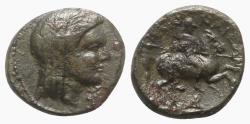 Ancient Coins - Thessaly, Pelinna, late 4th to early 3rd centuries BC. Æ Dichalkon