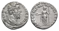 Ancient Coins - Commodus (177-192). AR Denarius - Rome - R/ Concordia