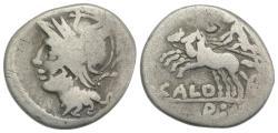 Ancient Coins - ROME REPUBLIC. C. Coelius Caldus, Rome, 104 BC. AR Denarius