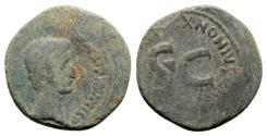 Ancient Coins - Augustus (27 BC-AD 14). Æ As - S. Nonius Quinctilianus, triumvir monetalis