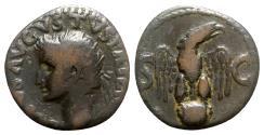 Ancient Coins - Divus Augustus (died AD 14). Æ As - Rome - R/ Eagle