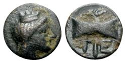 Ancient Coins - Islands of Troas, Tenedos, late 5th-early 4th century BC. Æ
