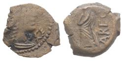 Ancient Coins - Celtic, Southern Gaul. Volcae-Arecomici, c. 77-44 BC. Æ 13.5mm