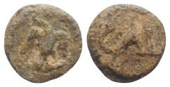 Ancient Coins - Roman PB Tessera, c. 1st century BC - 1st century AD. Eagle R/ Large CAI