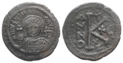 Ancient Coins - Justinian I (527-565). Æ 20 Nummi. Cyzicus, year 16 (541/2).