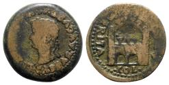 Ancient Coins - Tiberius (14-37). Spain, Emerita. Æ - R/ Camp gateway