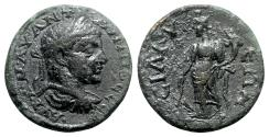 Ancient Coins - Caracalla (198-211). Pamphylia, Sillyum. Æ - R/ Tyche - RARE