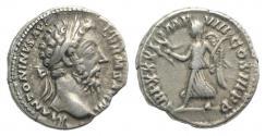 Ancient Coins - Marcus Aurelius AD 161-180. AR Denarius. Rome. R/ VICTORY