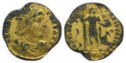 Ancient Coins - Valens (364-378). Fourrèe Solidus - Antioch