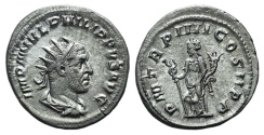Ancient Coins - Philip I (244-249). AR Antoninianus R/ Felicitas