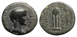 Ancient Coins - Britannicus (AD 41-55). Phrygia, Laodicea ad Lycum. Æ - Polemon, the son of Zeno, hiereus