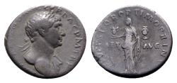 Ancient Coins - Trajan (98-117). AR Denarius - Rome - R/ Aeternitas
