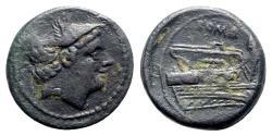 Ancient Coins - Roman Republic, Anonymous, Rome, 217-215 BC. Æ Semuncia