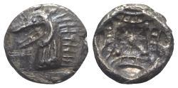 Ancient Coins - Caria, Kindya, c. 510-480 BC. AR Tetrobol. Head of ketos
