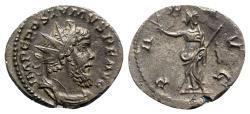 Ancient Coins - Postumus (260-269). AR Antoninianus - Treveri - R/ Pax