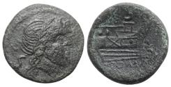 Ancient Coins - ROME REPUBLIC Anonymous, Rome, after 211 BC. Æ Semis