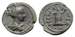 Ancient Coins - Lydia, Hierocaesaraea, c. 1st-2nd centuries AD. Æ - Artemis / Altar