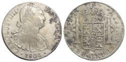 World Coins - Mexico, Carlos IV (1788-1808). AR 8 Reales 1803 FT, Mexico City