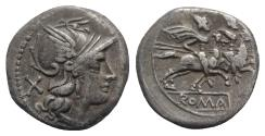 Ancient Coins - ROME REPUBLIC Anonymous, Rome, after 211 BC. AR Denarius. R/ Dioscuri on horseback