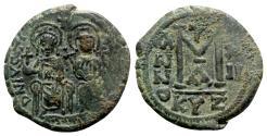 Ancient Coins - Justin II and Sophia (565-578). Æ 40 Nummi - Cyzicus, year 12