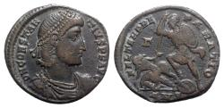 Ancient Coins - Constantius II (337-361). Æ Centenionalis - Antioch - R/ Soldier spearing