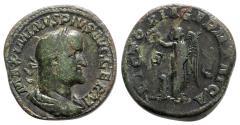 Ancient Coins - Maximinus I (235-238). Æ Sestertius - Rome - R/ Victory