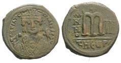 Ancient Coins - Maurice Tiberius (582-602). Æ Follis - 40 Nummi. Theoupolis (Antioch), year 3 (584/5).
