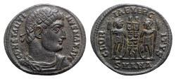 Ancient Coins - Constantine I (307/310-337). Æ Follis - Antioch - R/ Soldiers