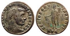 Ancient Coins - Galerius (Caesar, 293-305). Æ Follis - Heraclea - R/ Genius