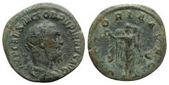 Ancient Coins - Pupienus (AD 238). Æ Sestertius. Rome. R/ Victory