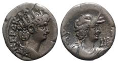 Ancient Coins - Nero (54-68). Egypt, Alexandria. BI Tetradrachm - year 12 - R/ Bust of Alexandria