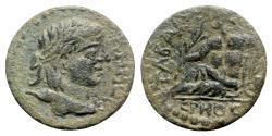 Ancient Coins - Lydia, Tabala. Pseudo-autonomous issue, c. 2nd-3rd century AD. Æ - Demos / Hermos - VERY RARE