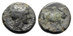 Ancient Coins - Southern Campania, Neapolis, c. 300-275 BC. Æ